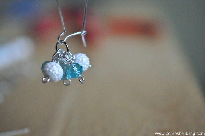 Frozen Inspired Dangle Cluster Earrings-9