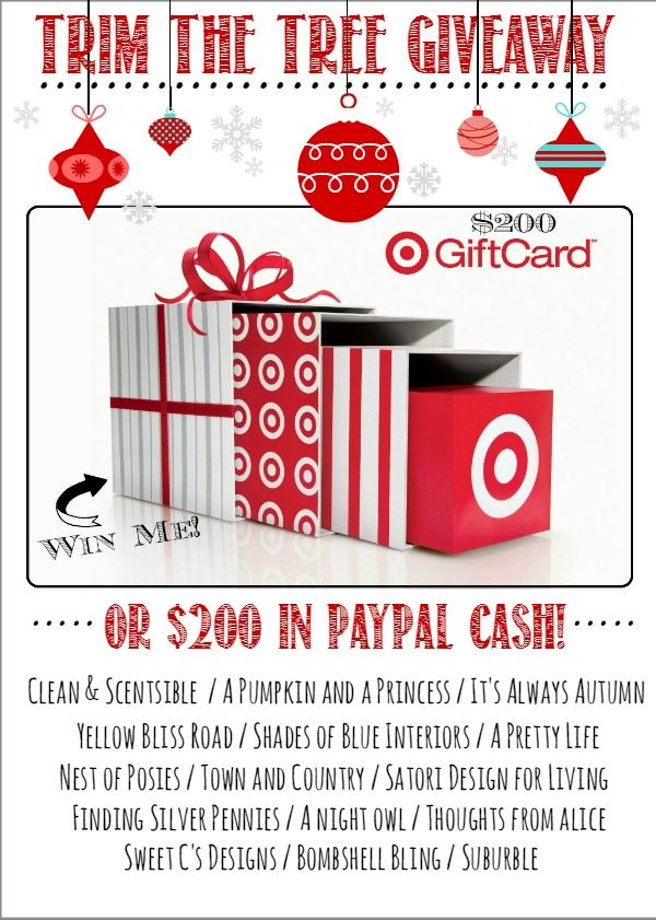Trim the Tree Giveaway - $200 in Target or Paypal!