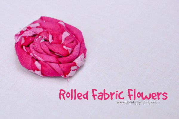 Rolled Fabric Flowers by Bombshell Bling