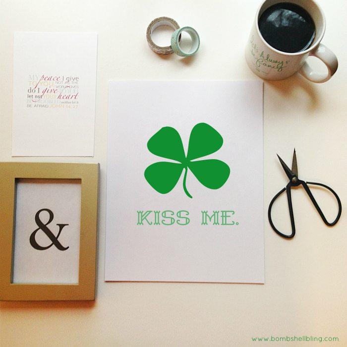 KISS ME Free Printable