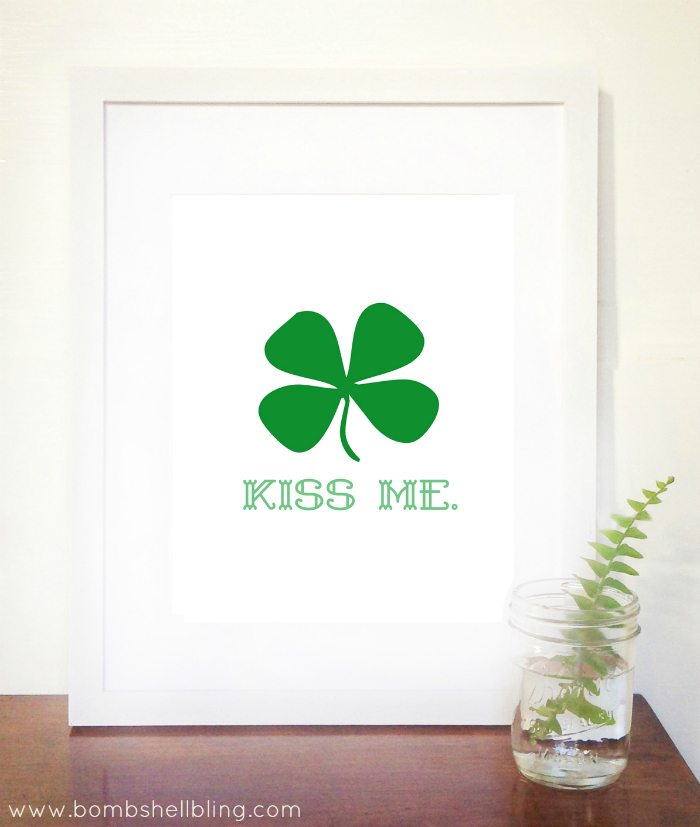 KISS ME St Patrick's Day Printable