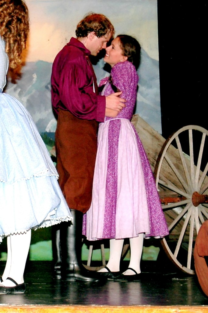Benjamin and Dorcas in Seven Brides for Seven Brothers at Pickleville Playhouse in Bear Lake, UT.