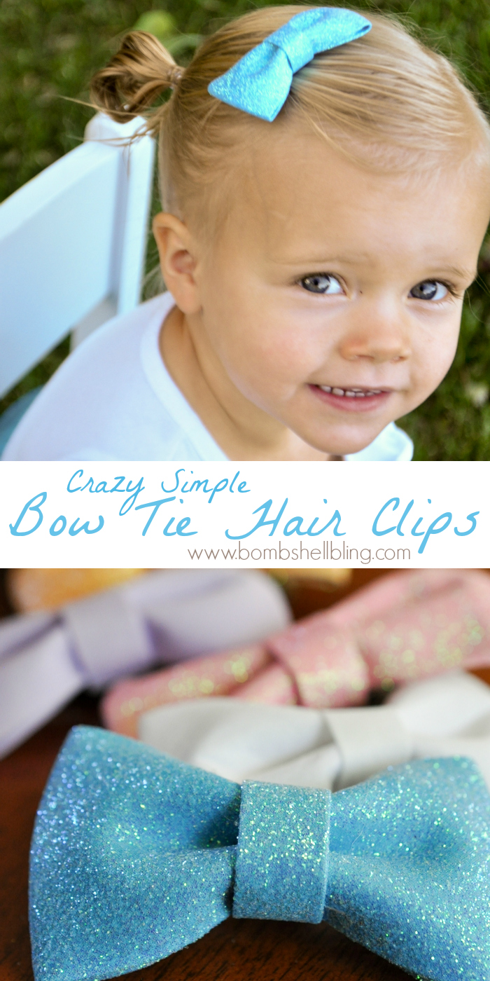 Crazy Simple Bow Tie Hair Clips