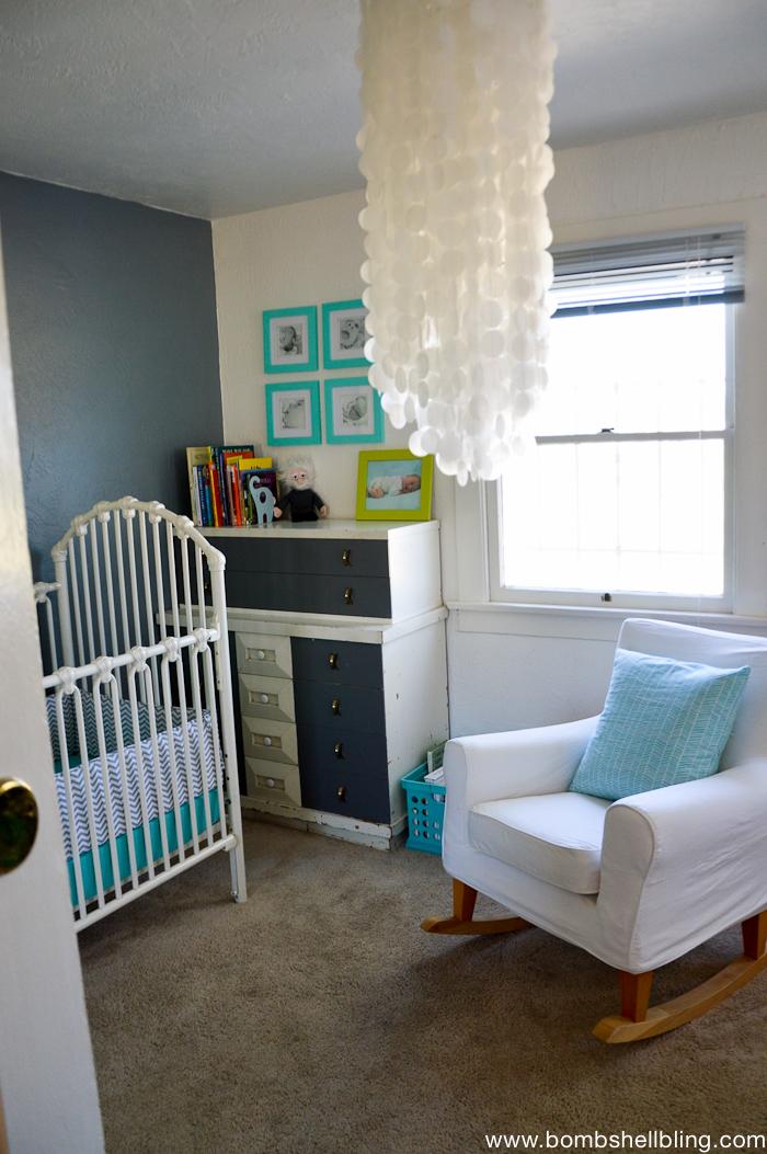 Darling Retro Inspired Baby Nursery-1