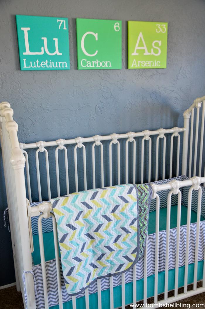 Darling Retro Inspired Baby Nursery!