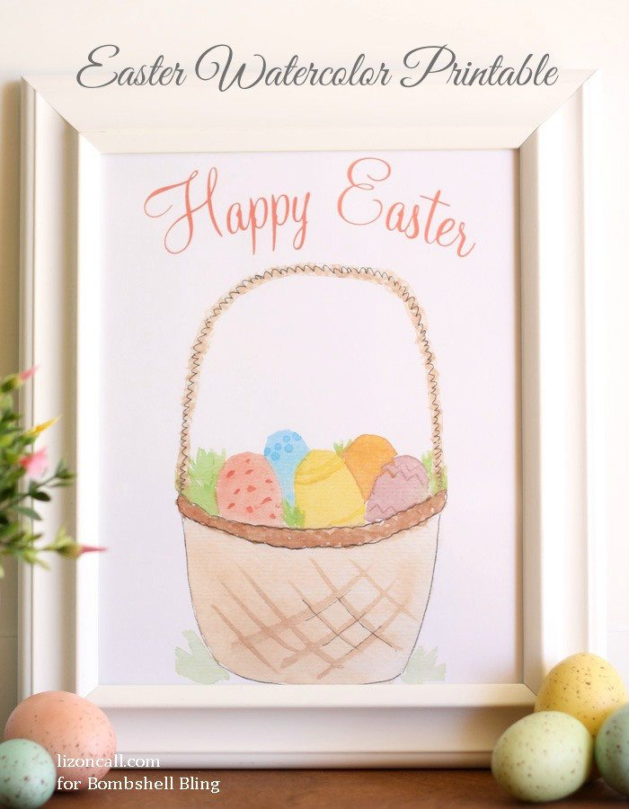 Water color Easter printable