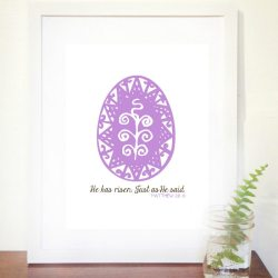 """He Has Risen"" FREE Easter Printable"