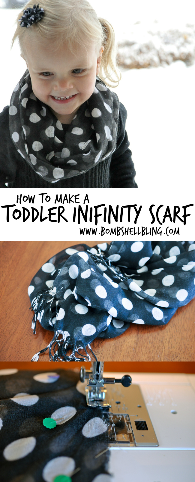 How to Sew a Toddler Infinity Scarf