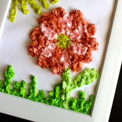 Spring Tissue Paper Kid Craft