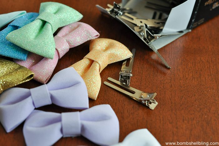 Super Simple Bow Tie Hair Clips -1