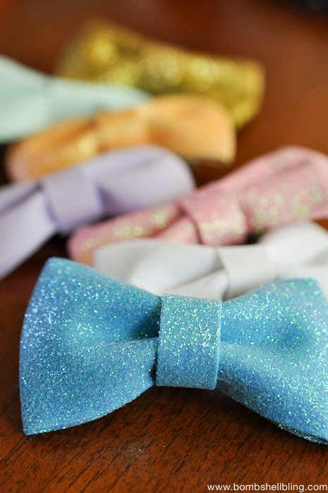 You will not BELIEVE how simple it is to make these bow tie clips for your little lady!  Make a whole bundle of them in minutes!