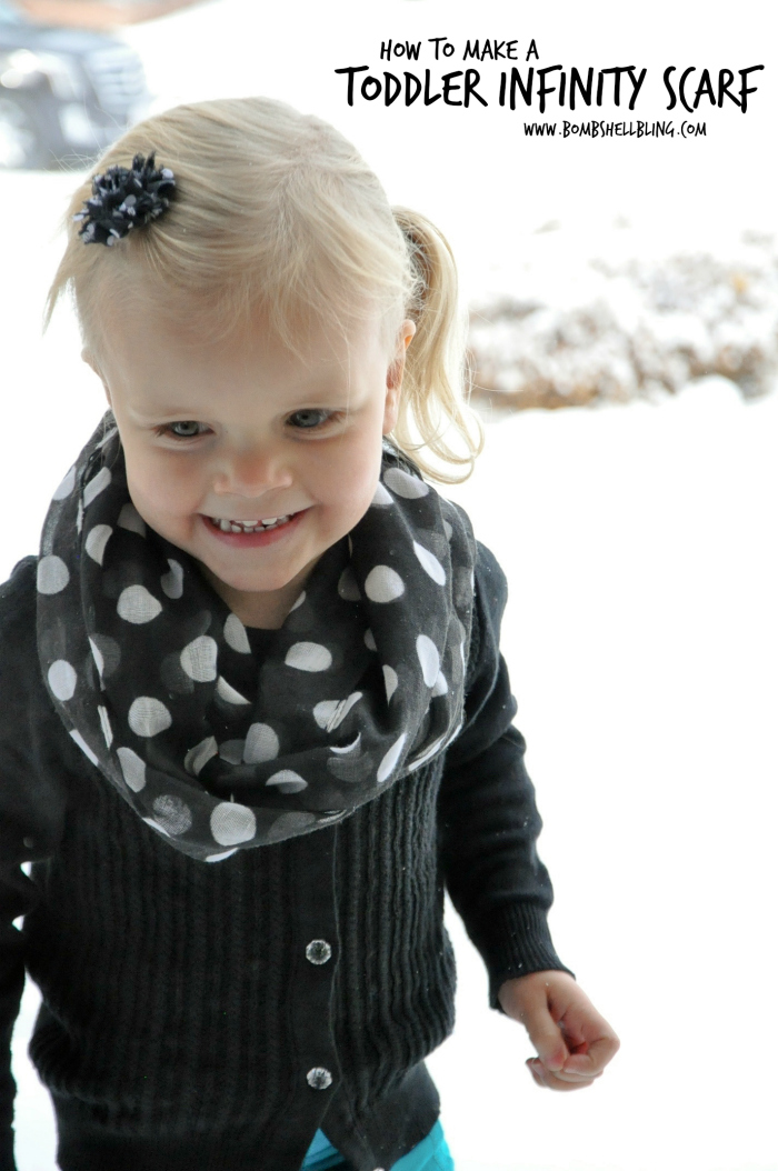 Toddler Infinity Scarf Sewing Tutorial