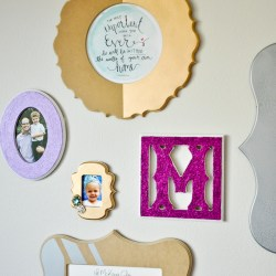 Girly Glam Gallery Wall