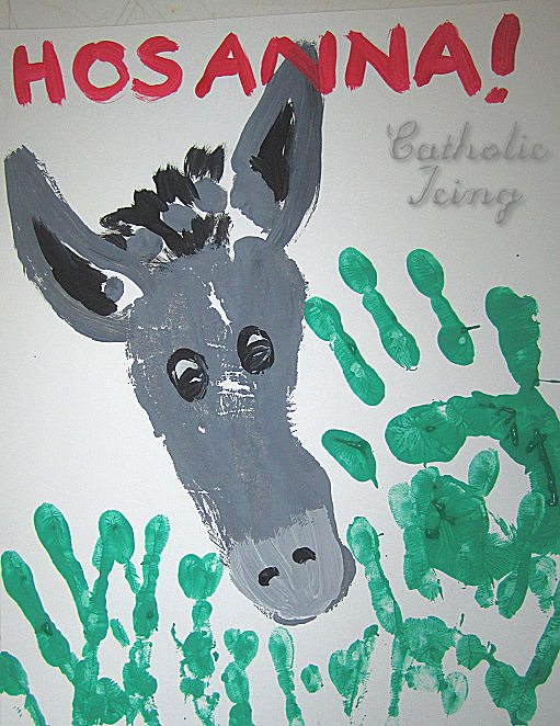 Palm Sunday Handprint and Footprint Art