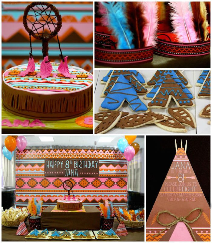 Disney princess parties Pocahontas party collage