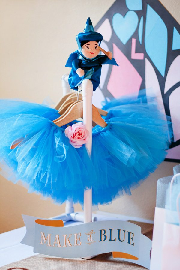 Disney princess parties Sleeping Beauty fairy godmother centerpiece
