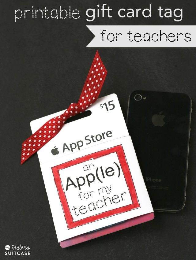 * app(le) printable-gift-card-holder