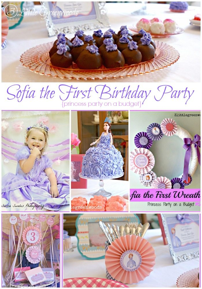 Disney princess parties Sofia the First party collage
