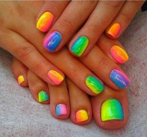 Plus This Is Something Fun That I Can Do With My Daughter Here Are 10 Cheery Summer Toenail Art Ideas Found On The Web