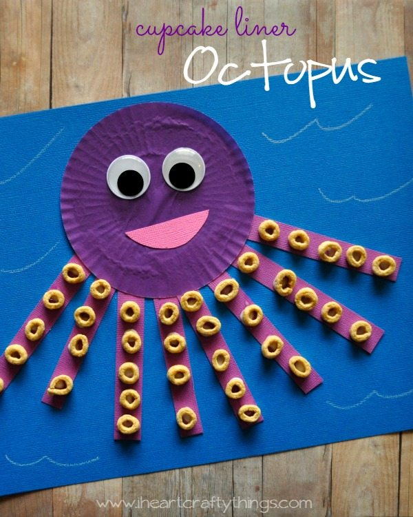 Cupcake Liner Octopus Pin