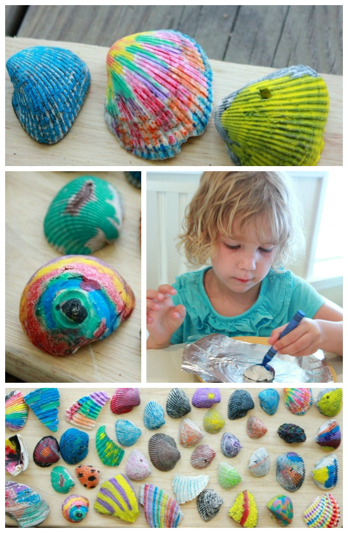 Ocean-Crafts-Melted-Crayon-Shells