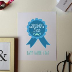 World's Greatest Dad Cards and Printable
