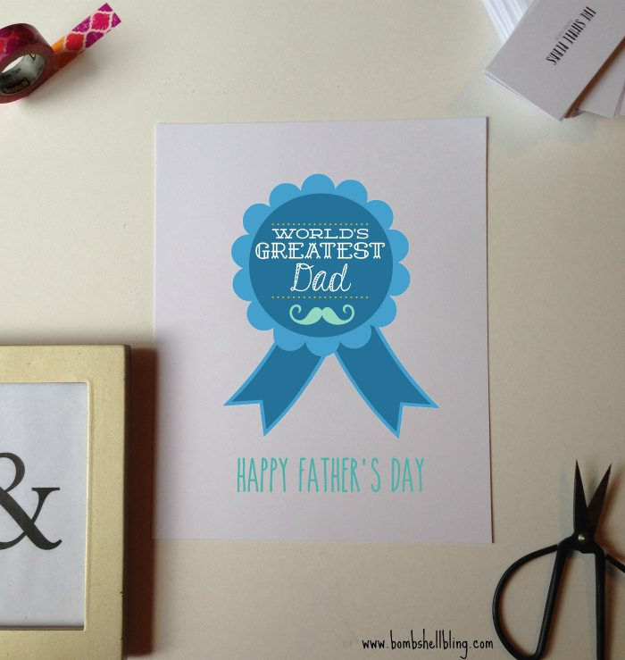 World's Greatest Dad Cards and Printable - FREE!  Great for Father's Day!