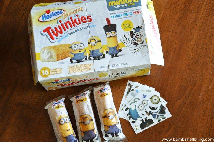 minion ideas twinkies next to twinkie box