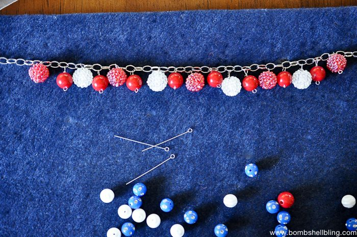 Patriotic Bauble Necklace Tutorial-13