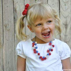 Patriotic Bauble Necklace Tutorial