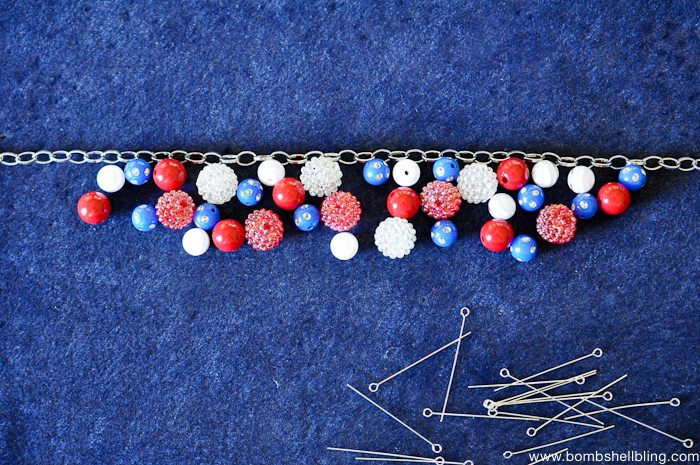 Patriotic Bauble Necklace Tutorial-6