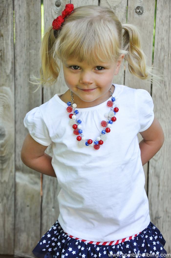 Patriotic Bauble Necklace