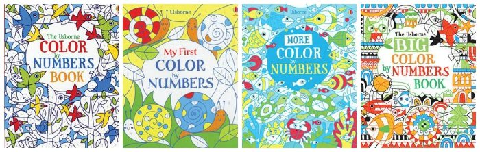 color by number usborne books - Color By Number Books