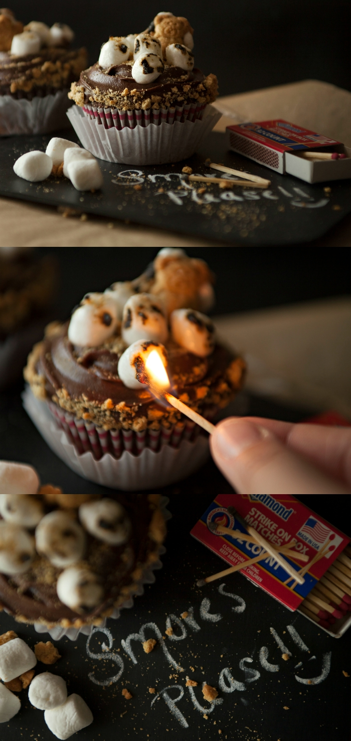 S'mores Cupcakes Recipe from Bombshell Bling