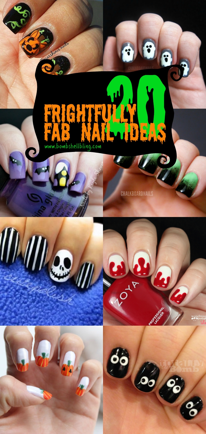 20 frightfull fab halloween nail art tutorials 20 frightfull fab nail art ideas for halloween prinsesfo Gallery