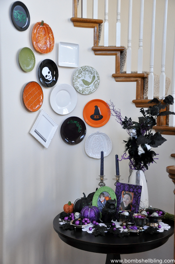 Halloween Plate Wall!!