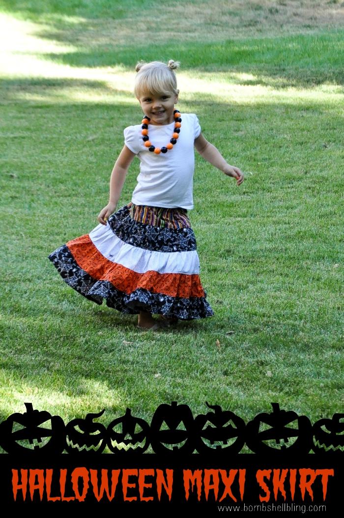 Halloween Maxi Skirt Tutorial from Bombshell Bling