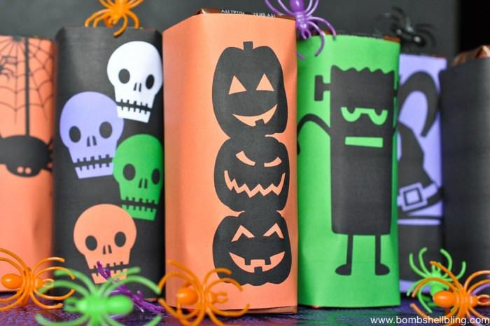 FREE Printable Halloween Milk Box Wrappers-1