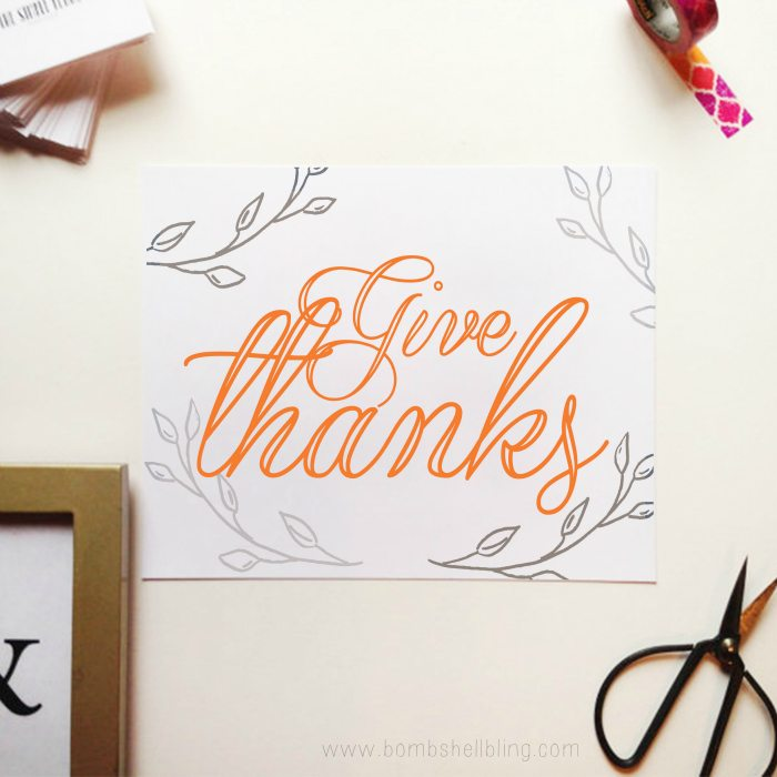 image regarding Give Thanks Printable referred to as Present Due Printable - Bombs Bling