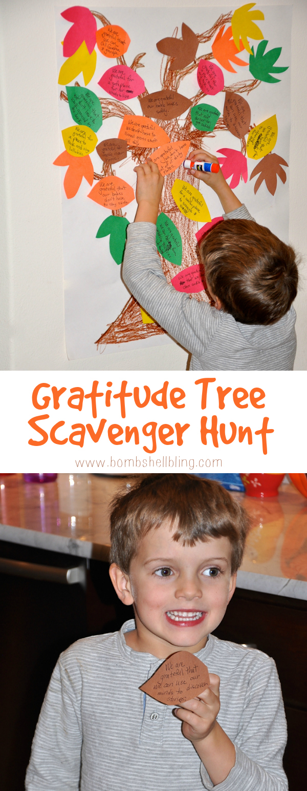 This gratitude tree scavenger hunt is a perfect way to get children engaged with the thankful spirit of Thanksgiving this holiday season!