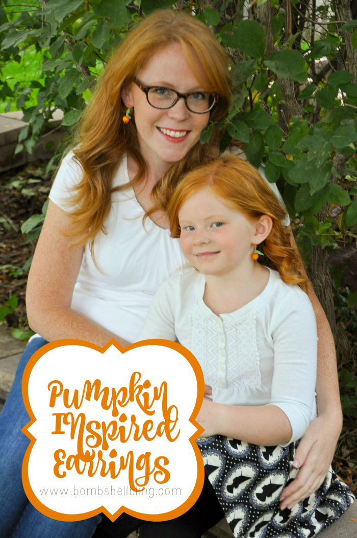 Pumpkin Inspired Earrings Tutorial - So cute for Fall