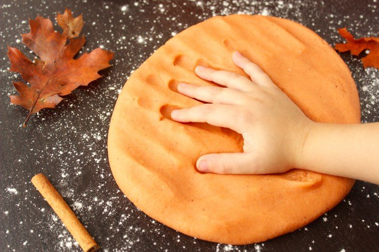 Making a playdough recipe with your kids is always fun, especially when it's scented with pumpkin spice! Your kids will have fun making and playing with it for hours.