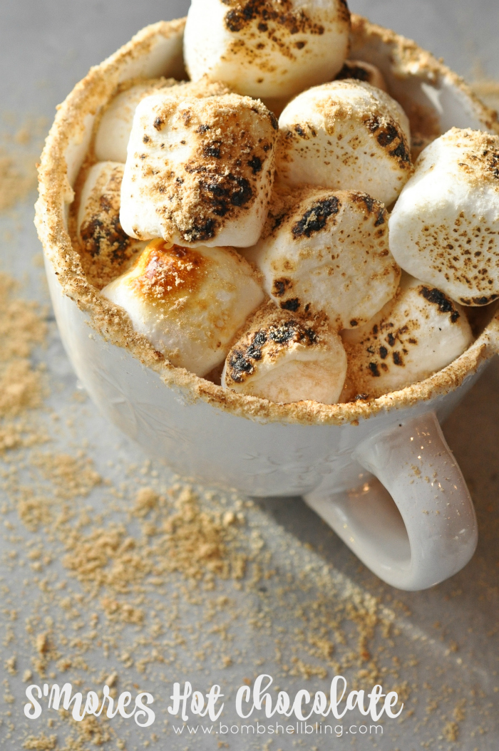 S'more Hot Chocolate Recipe from Bombshell Bling