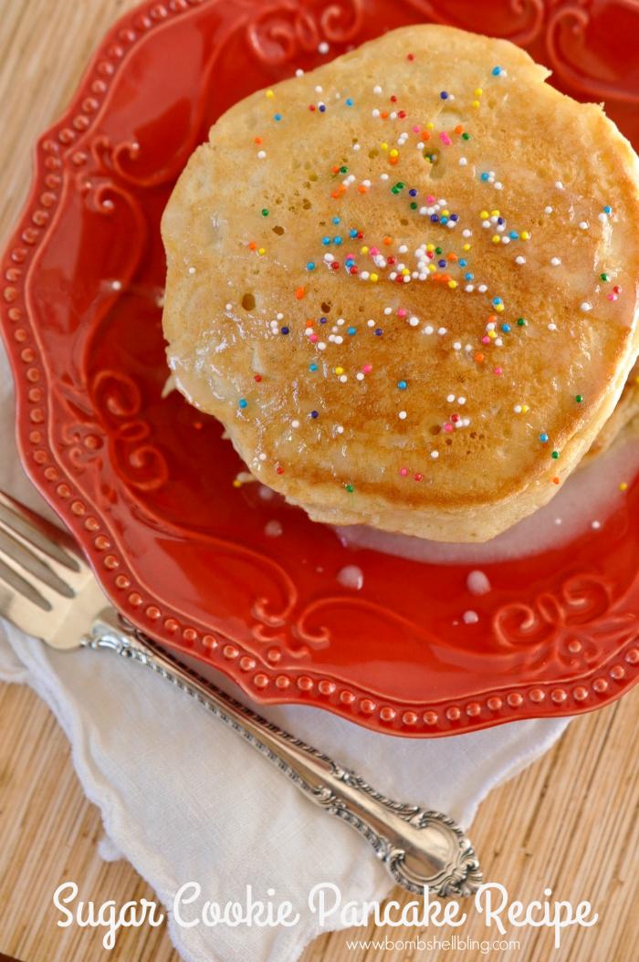 Sugar Cookie Pancake Recipe on Bombshell Bling