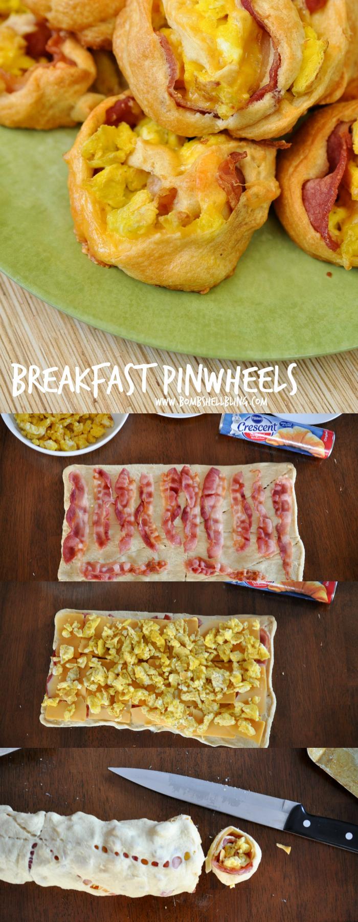 Bacon Egg and Cheese Pinwheels