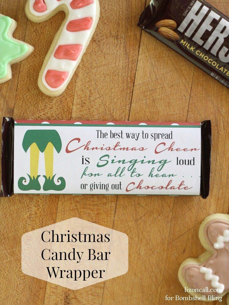 Elf Inspired Printable Christmas Candy Bar Wrapper Bombshell Bling
