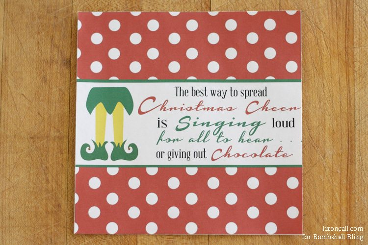 Elf inspired - free printable Christmas candy bar wrapper. Perfect gift for teachers and neighbors this year.