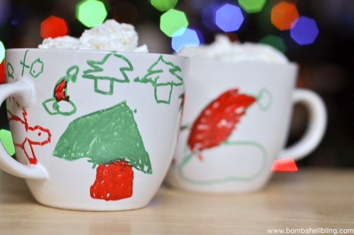 Painters Christmas Mugs Kid Craft-3