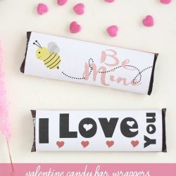 Valentine Candy Bar Wrappers Printable