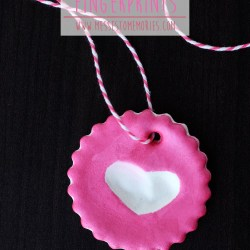 Heart Fingerprint Ornaments